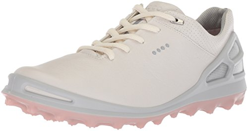 ECCO Women's Cage Pro Gore-Tex Golf Shoe, White/Silver Pink, 39 M EU (8-8.5 US)