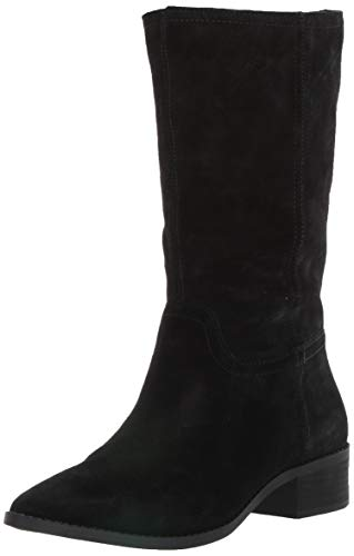Lucky Brand Women's LEFARA Mid Calf Boot, Black, 8