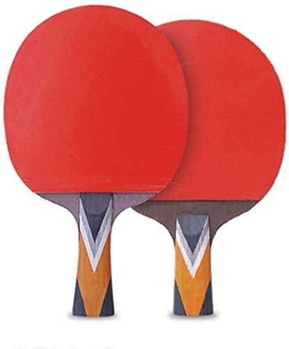 Kit Ping Pong Portátil para Interiores Exteriores Tabla raqueta de tenis de mesa de la paleta del tenis de doble cara adhesiva anti-Competencia Profesional Raqueta con la raqueta Duplex paleta de ping
