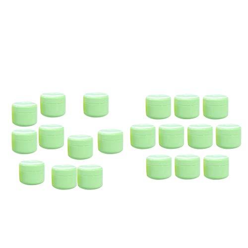 B Blesiya 10 pièces Pot Cosmétique Vides en Plastique de Voyage Boîte Cosmétique Vide Stockage Crème 20g + 50g