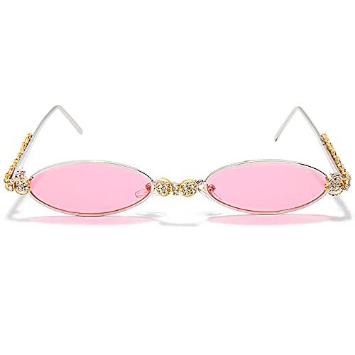 ShZyywrl Gafas De Sol De Moda Unisex Gafas De Sol Redondas Moda para Mujer Gafas De Sol Steampunk Sombras Vintage Gafas De Sol Ovaladas 6