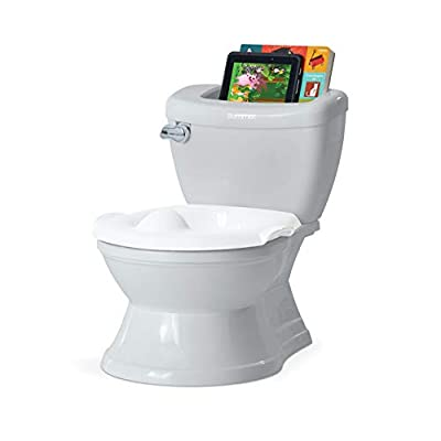 Summer My Size Potty with Transition Ring & Storage, Grey - Realistic Potty Training Toilet - Features Interactive Toilet Handle, Removable Potty Topper and Pot, Wipe Compartment, and Splash Guard
