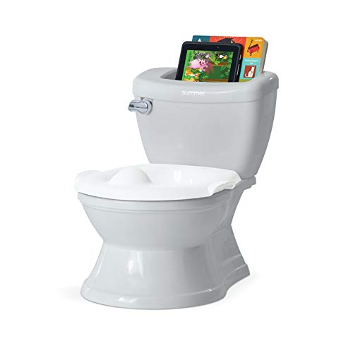 potty training potties Summer My Size Potty with Transition Ring & Storage, Grey – Realistic Potty Training Toilet – Features Interactive Toilet Handle, Removable Potty Topper and Pot, Wipe Compartment, and Splash Guard