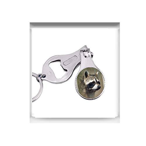bab Raccoon Logo Anhänger Halskette Cartoon Tier Raccon Schmuck Nagel Cutter Nagelschere