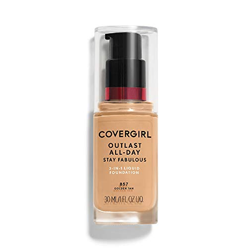 COVERGIRL Outlast Stay Fabulous 3-in-1 Foundation, 857 Golden Tan