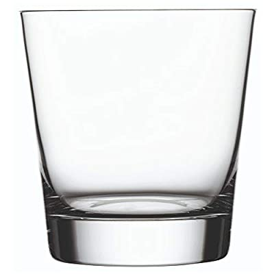 "Moda Nude 13 oz Double Old Fashioned Glass - Crystal - 3 3/4"" x 3 3/4"" x 4"" - 6 count box - Restaurantware, Model: RWG0072"