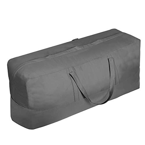 Cojín de patio / cubierta de almacenamiento Bolsa de almacenamiento a prueba de agua Patio al aire libre Asiento Asiento Cojín de rectángulo Bolsa de almacenamiento, Patio protector con cremallera Bol