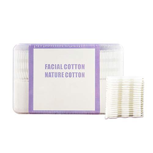 Kapmore Tampon en coton créatif polyvalent carré de 510 feuilles de coton avec étui de rangement