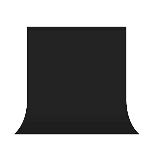 UTEBIT Fotostudio Hintergrund Schwarz 5 x 6.5FT Backdrops Photography Faltbare 1.5X 2M Faltenfrei Fotoshooting 100% Polyester für Hintergrundstand,Fotografie,Video und Fernsehen