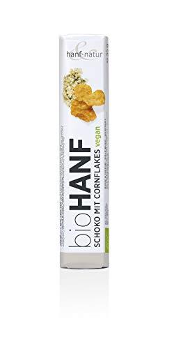 Hanf & Natur - Barritas de chocolate de cáñamo – Cornflakes – 35 g.