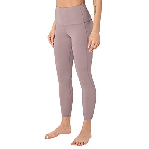 JNWBFC Pantalones De Yoga Pantalones De Mujer Nude Autocultivo Base Estiramiento Melocotón Glúteos Fitness Deportes Leggings De Cuerpo Entero Correr Cómodo Ajuste De Forma
