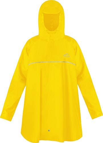 normani Kinder Regenponcho Regenjacke mit Ärmeln und Kapuze - 12.000 mm Wassersäule und 3M™ Scotchlite™ Reflektor - Regencape für Junge und Mädchen Farbe Gelb