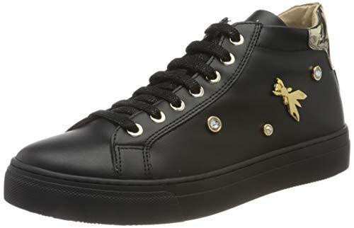 Patrizia Pepe PPJ510 Sneaker, Black, 41/41.5 EU