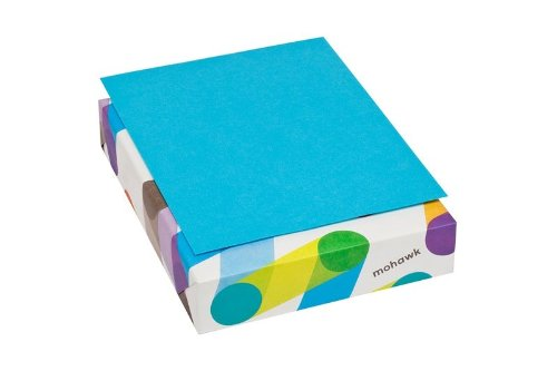 Mohawk BriteHue Blue 24 lb/60 Vellum Text Paper, 8.5 x 11 Inch, 500 Sheets/Ream - Sold as 1 Ream (101592)