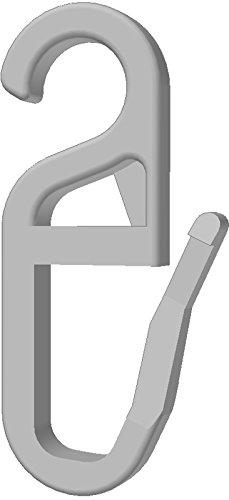 Gardineum 100 hochwertige Faltenhaken/Gardinenhaken (840-8) mit 8 mm Öse weiß