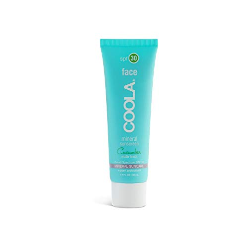 COOLA Organic Mineral Matte Face Sunscreen & Sunblock, Skin Care for Daily Protection, Broad Spectrum SPF 30, Reef Safe, Cucumber, 1.7 Fl Oz
