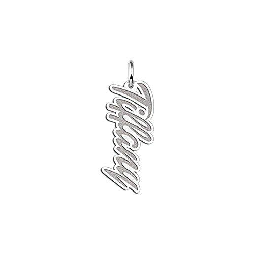 """Namesforever Kugelkette mit Namensanhänger Modell """"Tiffany"""" mit Gravur - Anhänger mit Ihrem Namen aus Silber"""