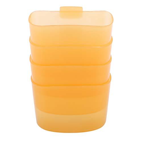 SUNSKYOO 4 Stücke Hängen Teebeutel Kunststoff Kreative Reise Tragbare Nachmittag Dessert Werkzeugschale Cookie Ständer Clips, gelb