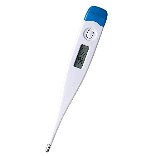 Best Digital Thermometer,Esolom Rectal and Oral LCD Digital Thermometer for Adult Kids Home Office,High Precision Thermometer for Fever(Blue)