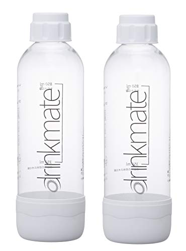 Drinkmate 1L Carbonating Bottles - White (2 Pack)