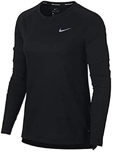 Nike Damen Langarmshirt Breathe Tailwind, Black, XL, 890200-010