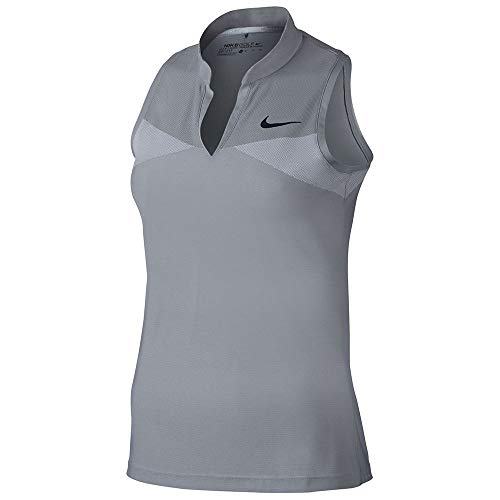 Nike Zonal Cooling Swing Knit Racerback Golf Polo 2017 Women Wolf Grey/White/Black Small