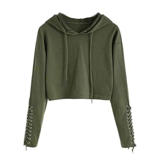 Overdose Nueva OtoñO Mejor Venta Mujeres Sudadera con Capucha Sudadera Jumper Sweater Crop Top Coat Sports Pullover Tops Dama Sudadera