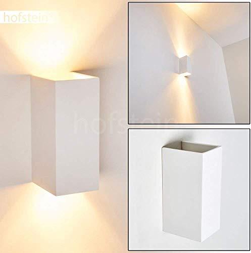 Wandlamp Aversa van keramiek in wit, wandlamp met op en neer effect, 2 x GU10 - stopcontact, max. 50 Watt, interieur wandlamp kan worden geschilderd met standaard kleuren, geschikt voor LED-verlichting