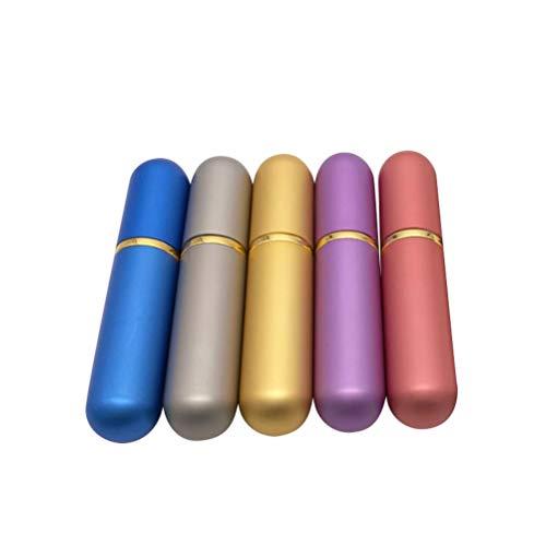 Healifty 5 STÜCKE Ätherisches Öl Tuben Aromatherapie Flasche Nasal Inhalatoren Parfüm Rohr mit Baumwoll-Dochte (Zufällige Farbe)