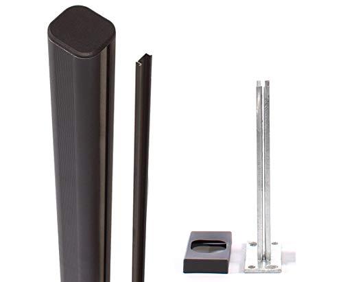 bambus-discount.com WPC Zaun, System Pfosten aufschrauben 7,3x6,6x192,5cm - Sichtschutz, Sichtschutz Elemente, Sichtschutzwand, Windschutz, Sichtschutzzäune