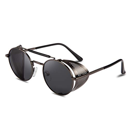 "FEISEDY Sunglasses Dimensions: - Lens width: 51mm (2.01"") - Lens height: 48 mm (1.89"") - Leg length: 144mm (5.67"") - Nose bridge: 18mm (0.71"") - Frame length: 140 mm (5.51""). UV400 LENS: UV400 protection coating blocks 100% harmful UVA & UVB Rays. Re..."