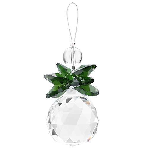 Zerodis Kristall Kugel Anhänger Sonnenfänger Klar K9 Crystal für Hochzeit Party Kronleuchter Fenster Dekoration(Grün)