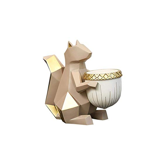 YAeele Arte Decoraciones Craft Ardilla Clave de Caja de Almacenamiento de la decoración del hogar en casa salón Zapatero Mesa de café 1