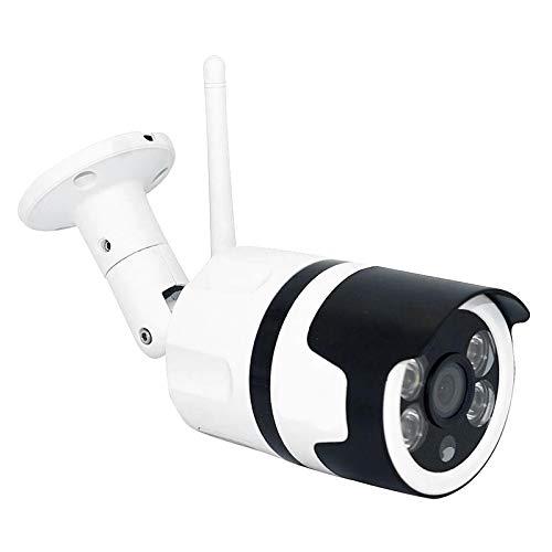 H HILABEE WiFi cámara de Seguridad Inteligente Compatible con Tarjeta SD de 64G Audio bidireccional visión Nocturna IP66 detección de Movimiento Resistente al