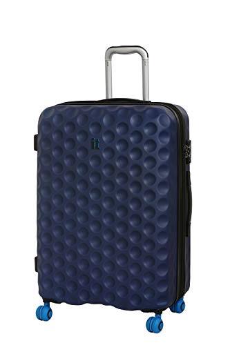 it luggage Bubble-Spin 4 Wheel Hard Shell Single Expander Medium With Tsa Lock Suitcase, 70 cm, 107 L, Blue Depths