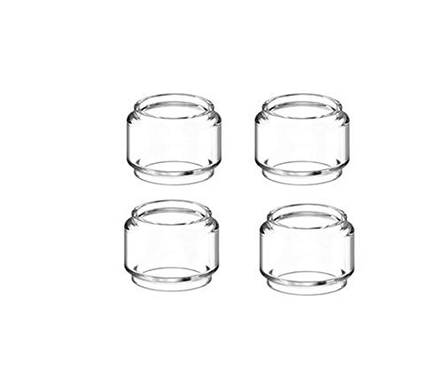 NO LOGO 4pcs Birne Pyrex Glasrohr gepasst for UD Bellus RTA Vaporesoo Fit for Ziel Pro Fit for Vaporizer Atomizer Tank-Fat-Glasschlauch (Farbe : 4pcs Bulb Glass)