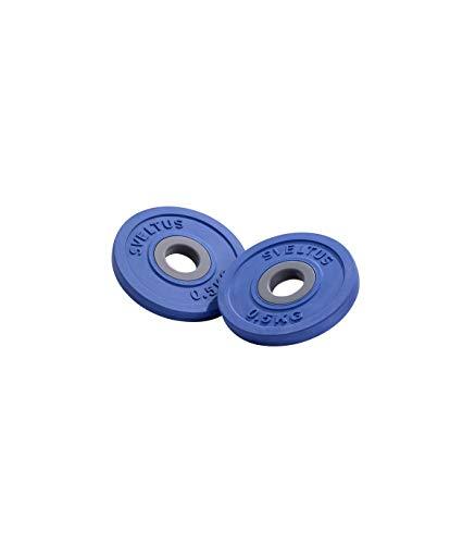Sveltus Dischi Fit'us 5 kg Adulto Unisex, Nero, Diam. ca. 22,5 cm.