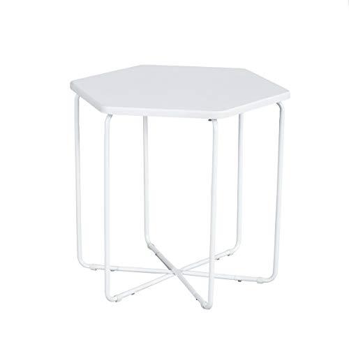 MEUBLE COSY Table Basse Scandinaves,Table de Salon,Table de Canapé Minimaliste Moderne,Table D'appoint Ronde Design Moderne Blanc , Blanc /45,5x40x41,5cm 1.0
