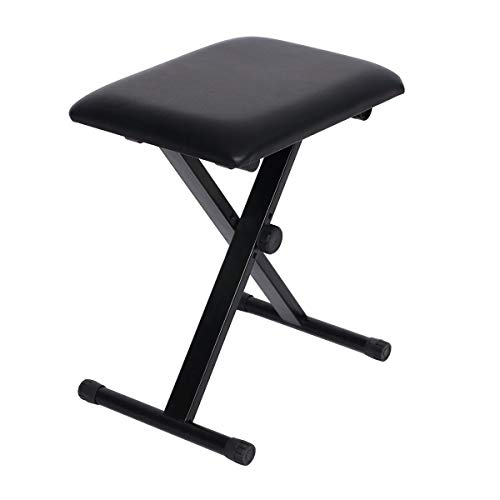 Fantastic Deal! Happy 88 Shop Keyboard Music Folding Adjustable Padded Stool Chair Seat Bench Lightw...