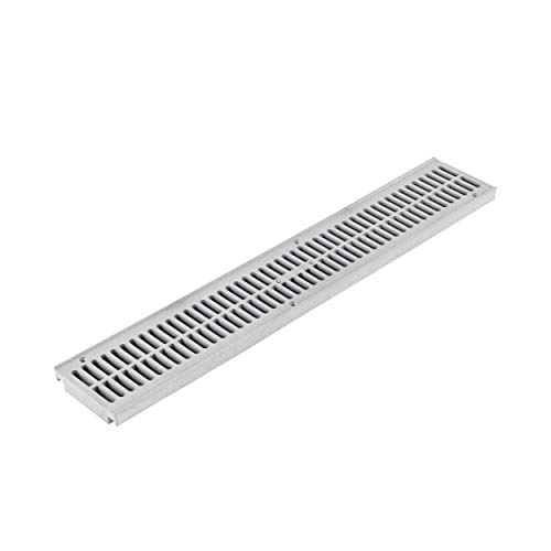 NDS, Gray 241-1 Spee-D Channel Drain Grate, 4-1/8 in. wide X 2 ft. long