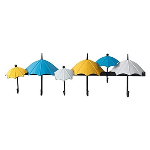 Rústico Colorido Paraguas Soporte para Sombrero Ganchos para Perchero de Metal Montado en la Pared, Perchero para Llaves de Hierro Forjado, Perchero de Pared, Organizador de Pared Ganchos Decorativos