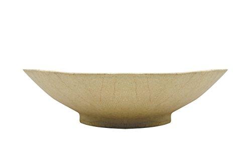 Décopatch HD002O Schale rund aus Pappmaché, 35 x 35 x 10,5 cm, ein Behälter zum Verzieren perfekt für Ihr Wohndeko, Kartonbraun