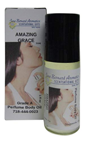 Jane Bernard Scented Oil No 7346 Inspired by Amazing Grace_Type Women Fragrance Body Oil_30ml, 1 ounce Jumbo Roll On_Plus 15ml Ounce Bonus Scented Lotion_Long lasting scent
