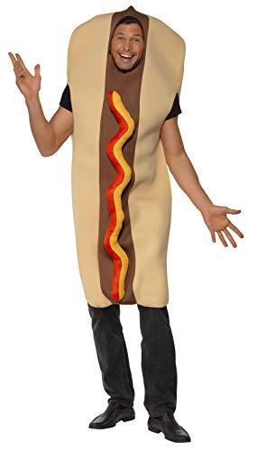 Smiffys Costume hot dog géant, Marron, avec Tabard