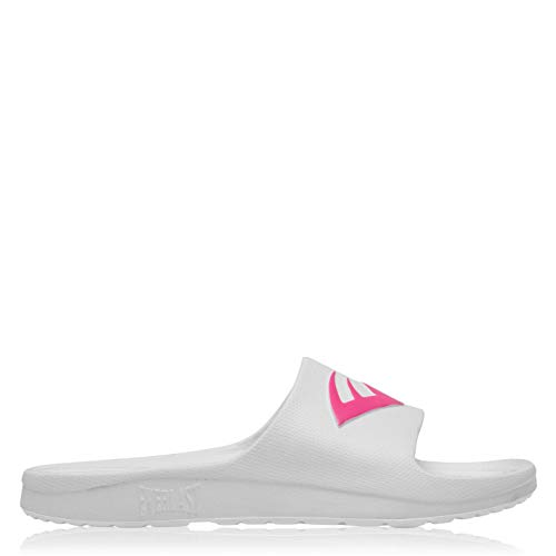 Everlast Mujer Chanclas De Piscina Slip On Blanco/Rosa EUR 40 2/3