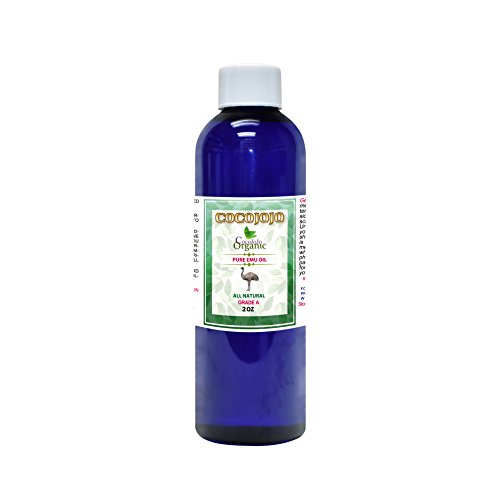 Emu Oil - Cold Pressed 100% Pure Natural 2 oz Hair Face Body Healthy Best Skin Split Ends Nails Cuticles 6 Times Refined Premium Grade