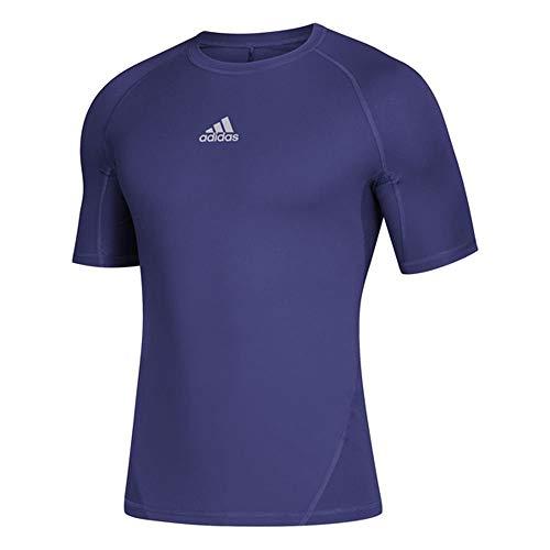 adidas Alphaskin - Camiseta Deportiva de Manga Corta para Hombre, Manga Corta, Hombre, Manga Corta, CZ0081, Colegiado Púrpura, XXL