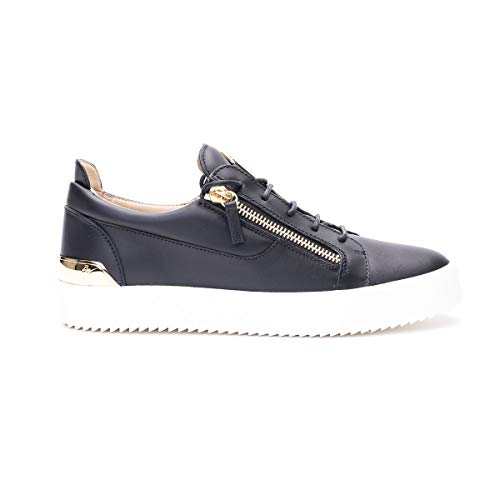 Giuseppe Zanotti Luxury Fashion Design Uomo RM00066001 Nero Pelle Sneakers | Primavera-Estate 20