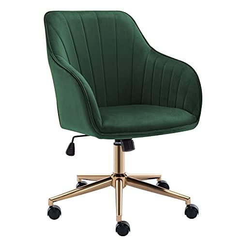 Duhome Velvet Desk Chair With Wheels