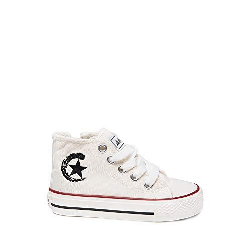 Zapatillas Lona Bota niño y niña Blanco